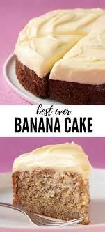 einfacher bananenkuchen mit frischkäse zuckerguss süßestes