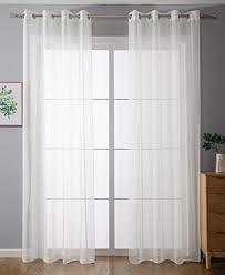 2er pack ösen gardinen transparent vorhang set wohnzimmer voile ösenvorhang bleibandabschluß hxb 225x140 cm weiß 203322