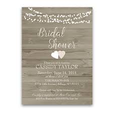 Rustic Barn Wood String Lights Bridal Shower Invite