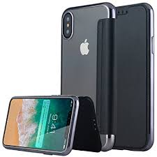 Amazon iPhone X Case Lontect Slim PU Leather Folio Flip Case