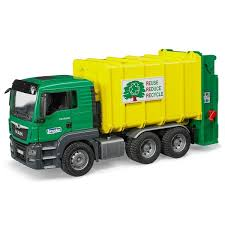 Bruder - MAN TGS Rear Loading Garbage Truck - Green | Online Toys ...