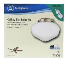 Westinghouse Ceiling Fan Light Kit by 7783800 Schoolhouse Glass Indoor Outdoor 4 Inch Fitter Ceiling Fan
