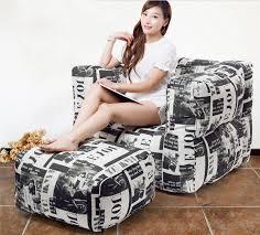 abdeckung nur keine füllstoff mit hocker wohnzimmer sitzsack sessel erwachsene sitzsack sofa liege