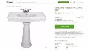 Glacier Bay Pedestal Sink Mounting Bracket by Vintage Sink For Sale Home Renovation Supplies