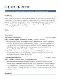 View Resume Ramp Operations Manager