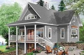 Lakeside Cabin Plans by Lakefront Home Designs From Drummondhouseplans