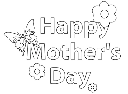 Coloring 2 Prints Free Mothers Day Pages