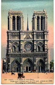 Notre Dame Pumpkin Stencil Print Out by Vintage Paris Travel Postcard Notre Dame The Graphics Fairy
