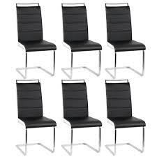 6er set esszimmerstühle stühle freischwinger stühle bow esstischstuhl küchenstuhl barstuhl hohe rückenlehne schwarz weiß