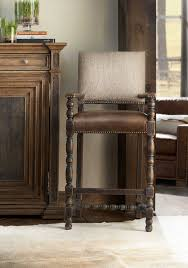 100 Hill Country Interiors Hooker Furniture Black Arm Counter Height Stool
