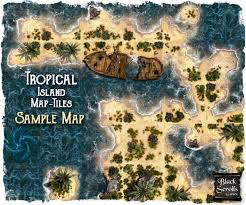 Dungeons And Dragons Tiles Pdf Free by Tropical Islands Map Tile Set Black Scrolls Games Map Tiles