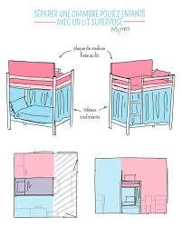 astuce pour separer une chambre en 2 séparer une chambre pour 2 enfants avec un lit superposé appart