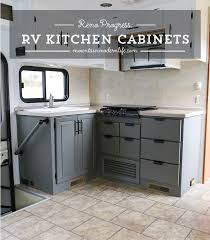 Best Type Of Flooring For Rv by The Progress Of Our Rv Kitchen Cabinets Rv Kitchens And Check