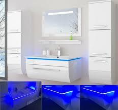 badmöbel set weiss schwarz hochglanz badezimmermöbel bis 6tlg led komplett montiert