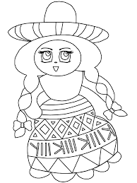 Mexico 1 Countries Coloring Pages Book