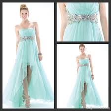 dn semi formal strapless hi lo cocktail dresses girls chiffon
