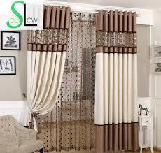 langsam seele braun grau europäischen luxus vorhänge vogel nest gespleißt vorhang leinen tüll für wohnzimmer küche schlafzimmer römischen sheer