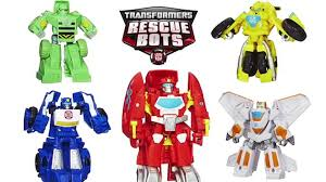 Rescue Bots Toys Heatwave, Bumblebee, Blades, Chase, Boulder Rescan ...