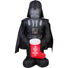 Walmart Halloween Blow Up Decorations by 5 U0027 Airblown Inflatable Darth Vader With Stocking Star Wars