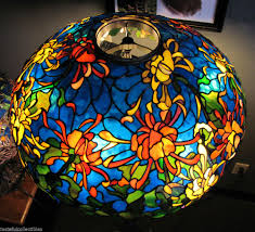 Duffner And Kimberly Lamps by Tiffany Reproduction Stained Glass Lamp Shade Spider Mum 22