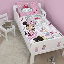 Minnie Mouse Queen Bedding by Character U0026 Disney Junior Duvet Cover U0026 Pillowcase Sets U2013 Toddler