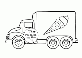 Ice Cream Truck Coloring Page For Kids Transportation Of Cool Pages ...