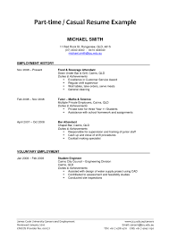Example Of Part Time Job Student Resume 5