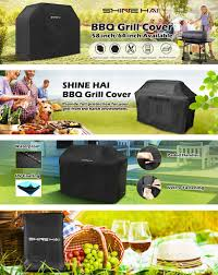 Brinkmann Electric Patio Grill Amazon by Amazon Com 64 Inch Bbq Grill Cover Shine Hai Waterproof 600d
