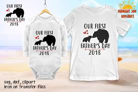 Our First Fathers Day SVG Daddy Bear Baby