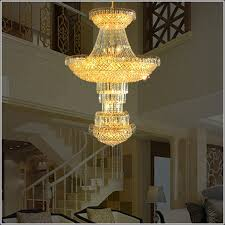 Hotel Lobby Crystal Chandelier Modern High Ceiling Led Lamp