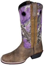 smoky mountain boots womens tupelo brown purple distress leather