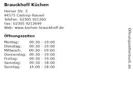 ᐅ öffnungszeiten brauckhoff küchen herner str 3 in