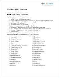 Workplace Safety Plan Template Company Management Games For The