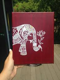 Bohemian Elephant Canvas By MissMeraki On Etsy