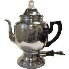 Vintage Farberware Electric Coffee Percolator Pot Art Deco Chrome SOLD
