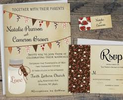 Printable Mason Jar Wedding Invitations Rustic Invitation Fall Invites W Bunting Flags Country Card