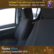 FULL-BACK Front Seat Covers + Map Pockets (TH15FB) - Dingo Trails