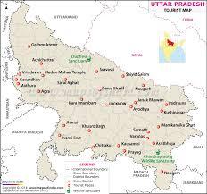 Travel Map Of Uttar Pradesh