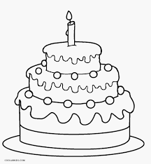 Amazing Design Birthday Cake Coloring Page Free Printable Pages For Kids Cool2bKids