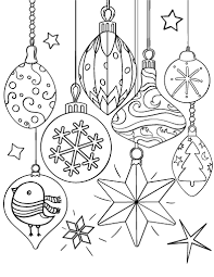 Printable Christmas Ornament Coloring Page Free PDF Download At Coloringcafe