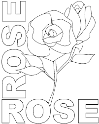 Roses Flower Coloring Pages And Word Free Download
