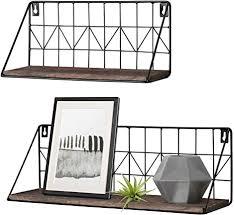 mkono schweberegal modernes regalbrett wandmontierte regale rustikale aufbewahrungsregale mit metalldraht gestelle anzeigen wohnkultur für badezimmer