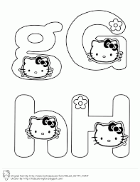 This Are An Alphabet Coloring PageIf You Like The Font Can Get It At Fontineed Tag Hello Kitty