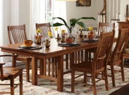 A America Laurelhurst Trestle Dining Table In Mission Oak LAUOA6320 CODEUNIV20 For 20