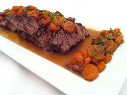 cuisiner du boeuf bœuf braisé aux carottes en cocotte au four la cuisine des jours