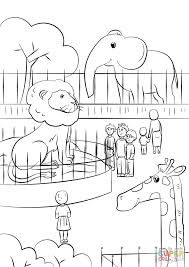 Zoo Animals Coloring Pages Page Free Printable 849×1200 Attachment