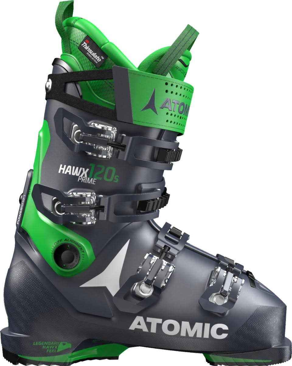 Atomic Men's Hawx Prime 120 Ski Boots - Dark Blue and Green, Size 25 to 25.5