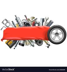 100 Auto Re Banner With Car Spares Royalty Free Vector Image