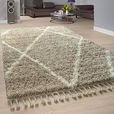 grösse 70x140 cm paco home shaggy teppich hochflor langflor