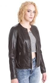 faneema kayla black leather jacket for women u2013 faneema lambskin
